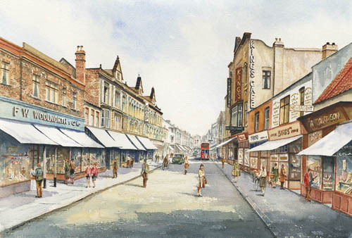 Kings Cinema Watercolour 1950's
