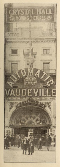 Crystal Hall, 14th Street, New York in 1911