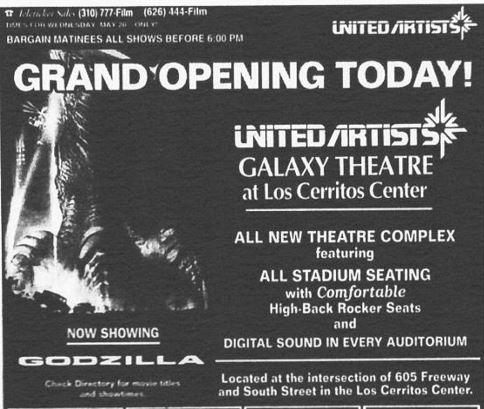 May 20th, 1998 grand opening ad