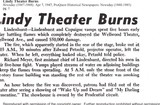Fire at original Wellwood Theater