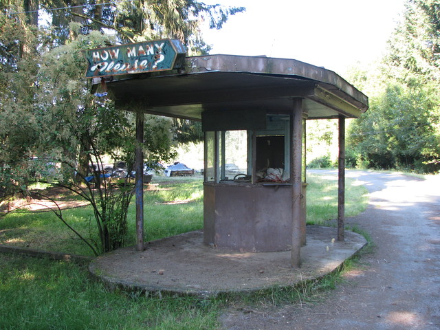 Ticket Booth at the Duncan Drive-in
