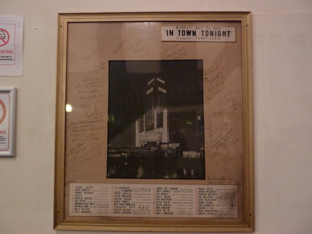 opening night signed photo gaumont kilburn