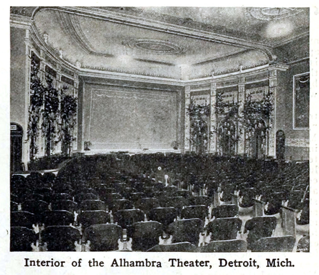 Alhambra Theatre, Detroit, Michigan in 1916