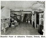 Alhambra Theatre, Detroit, Michigan in 1916 - Foyer