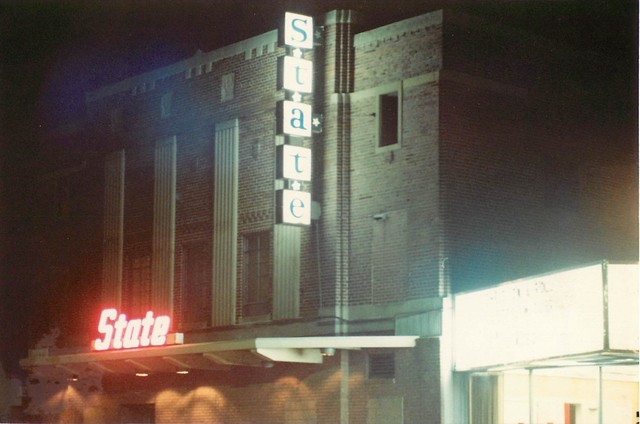 State Theatre - street side and marquee over box office