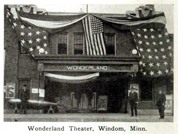 Wonderland Theatre, Windom, Minnesota in 1916