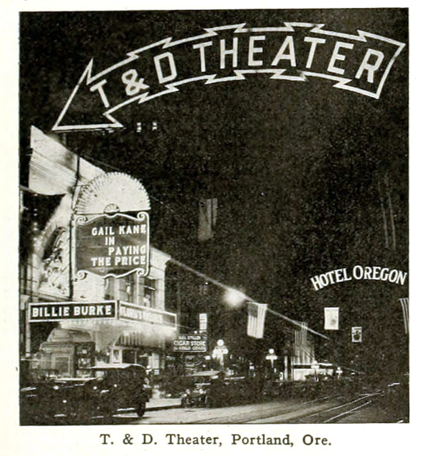 T & D Theatre, Portland, Oregon in 1916