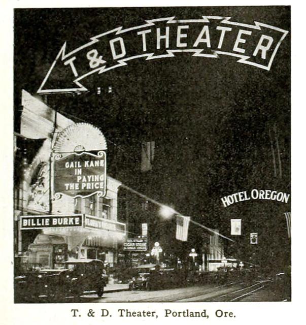 T & D Theatre, Portland, Oregon in 1916