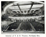 T & D Theatre, Portland, Oregon in 1916 - Interior