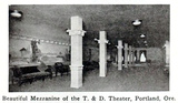 T & D Theatre, Portland, Oregon in 1916 - Mezzanine