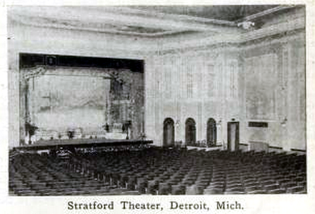 Stratford Theatre, Detroit, Michigan in 1916 - Interior