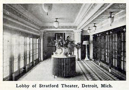 Stratford Theatre, 4751 W. Vernor Highway, Detroit, Michigan in 1916 - Lobby