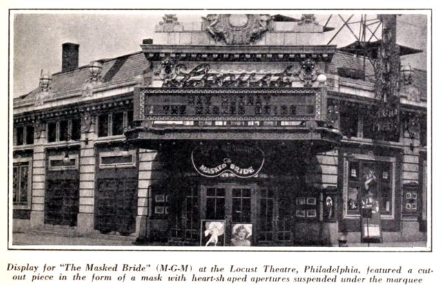 Locust Theatre, Philadelphia PA in 1926