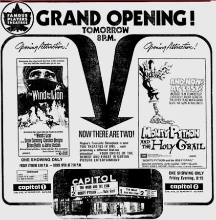 September 5th, 1975 grand opening ad as a twin