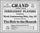 January 23rd, 1922 grand opening ad