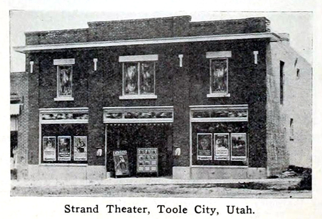 Strand Theatre, Tooele City, Utah in 1916