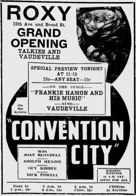 February 15th, 1935 grand opening ad