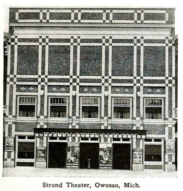 Strand Theatre, Owosso, Michigan in 1916