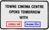 May 30th, 1980 grand opening ad as the Towne Cinema Centre