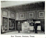 Star Theatre, Denison, Texas in 1916