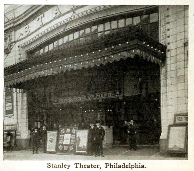 Stanley Theatre, Philadelphia, Pennsylvania in 1916