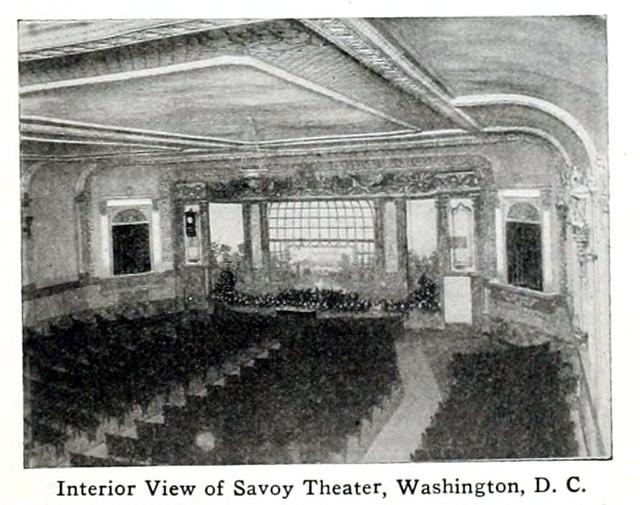 Savoy Theatre, Washington, D.C., in 1916