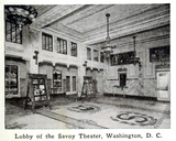 Savoy Theatre, Washington, D.C., in 1916 - Lobby