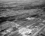 Aerial photo of the drive-in from 1973 towards Laval