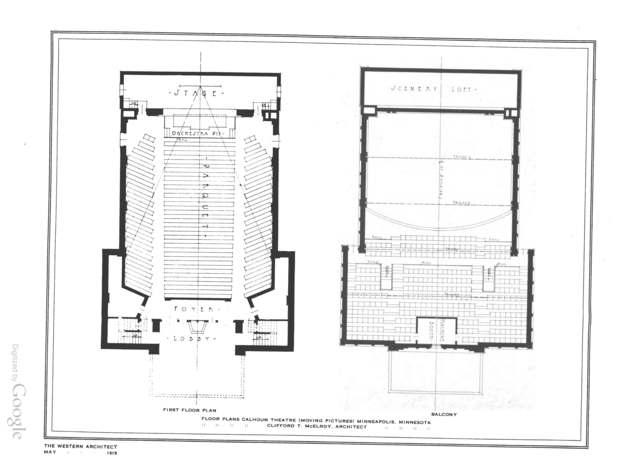 Calhoun Theatre - Floor Plans