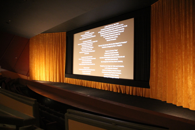 Screen #1 during credits