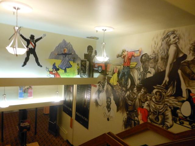 Lobby ceiling mural