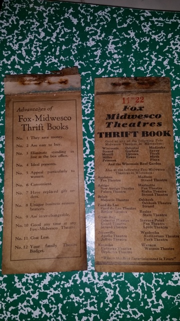Fox Midwesco ticket book covers