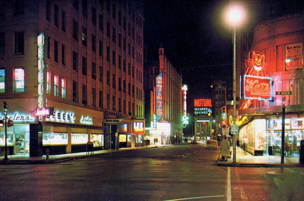 State Theater, Oklahoma City, Night Time View Looking South