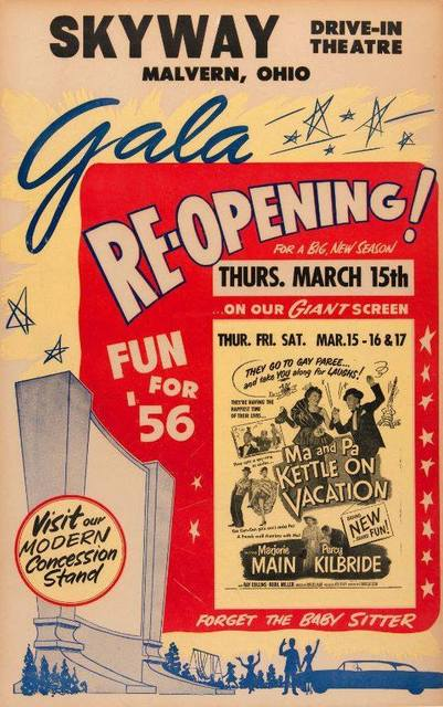 1956 re-opening poster courtesy of Ted Okuda.