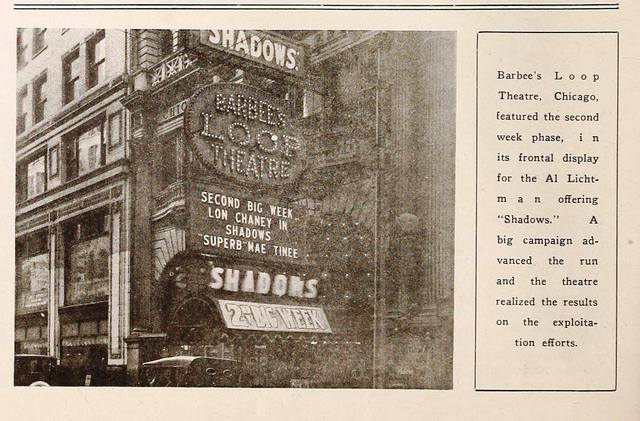 As Barbee's Loop Theatre from the Exhibitors Trade Review dated 02/10/23. Courtesy of Frank Dutton.E