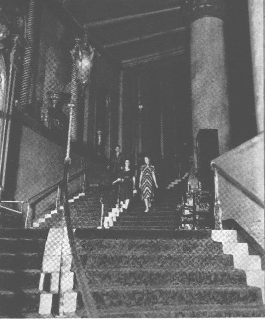 NYC ROXY Theatre Grand Staircase to Balcony Level 1930s