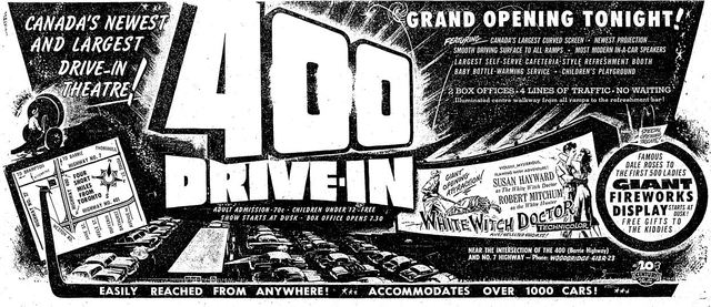 July 22nd, 1954 grand opening ad