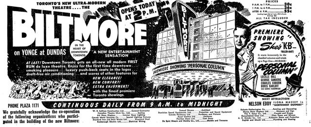 April 15th, 1948 grand opening ad