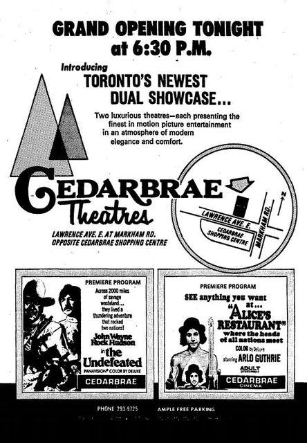 November 21st, 1969 grand opening ad