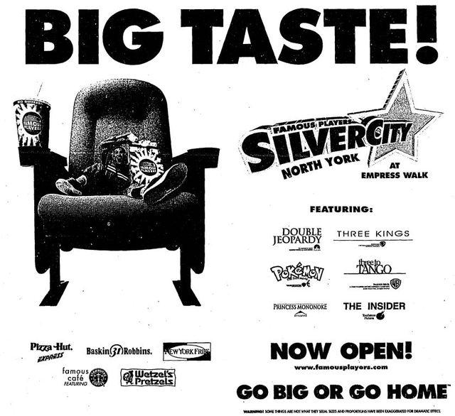 November 12th, 1999 grand opening ad