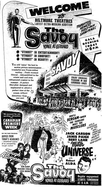 February 15th, 1951 grand opening ad
