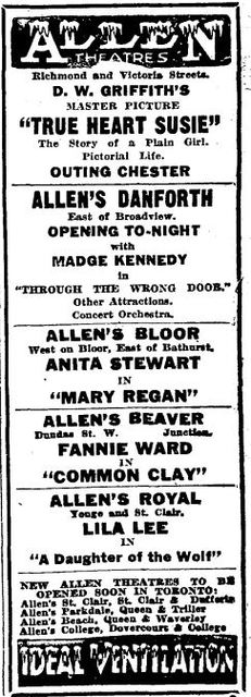 August 18th, 1919 grand opening ad