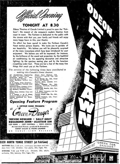 August 15th, 1947 grand opening ad