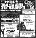 September 30th, 1983 grand opening ad