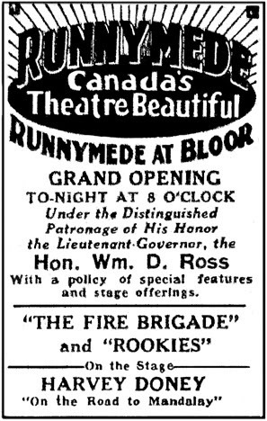 June 2nd, 1927 grand opening ad