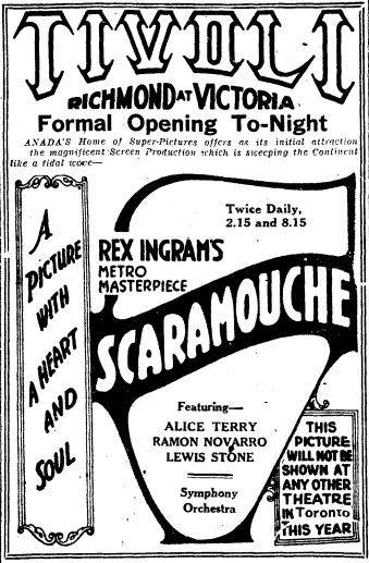 November 3rd, 1923 grand opening ad