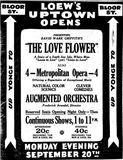 <p>September 18th, 1920 grand opening ad</p>