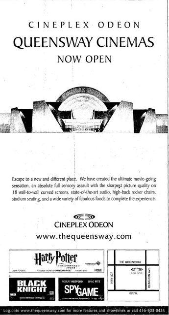 November 16th, 2001 grand opening ad