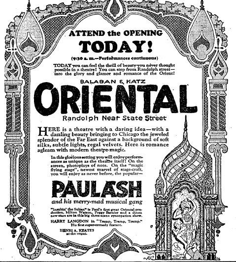 May 8th, 1926 grand opening ad