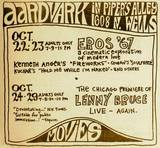 1967 Daily Northwestern ad for the Aardvark Cinematheque in Piper's Alley. Image courtesy of Joe Accardi.